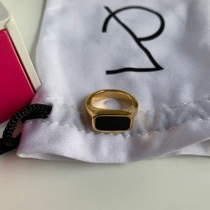 Maria Pascual x Collage Vintage Gold/Black Ring